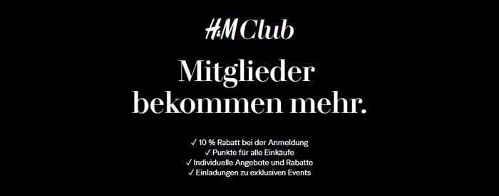 H&M Club Gutscheine